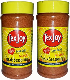 product image for Texjoy Steak Seasoning 14oz 50% Less Salt & No MSG 2 Pack