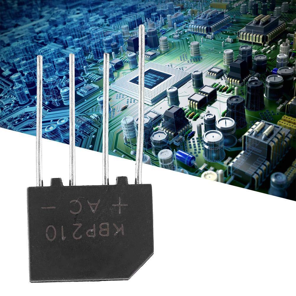 1Pcs KBP210 Ponte raddrizzatore a ponte piatto Diodo a piombo 1000V 2A Ponte a diodi per circuito elettronico