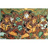 friends Office Automation Unframed Canvas Kerala Mural Indian Ethnic Paintings (Canvas,10 x 12 inch)