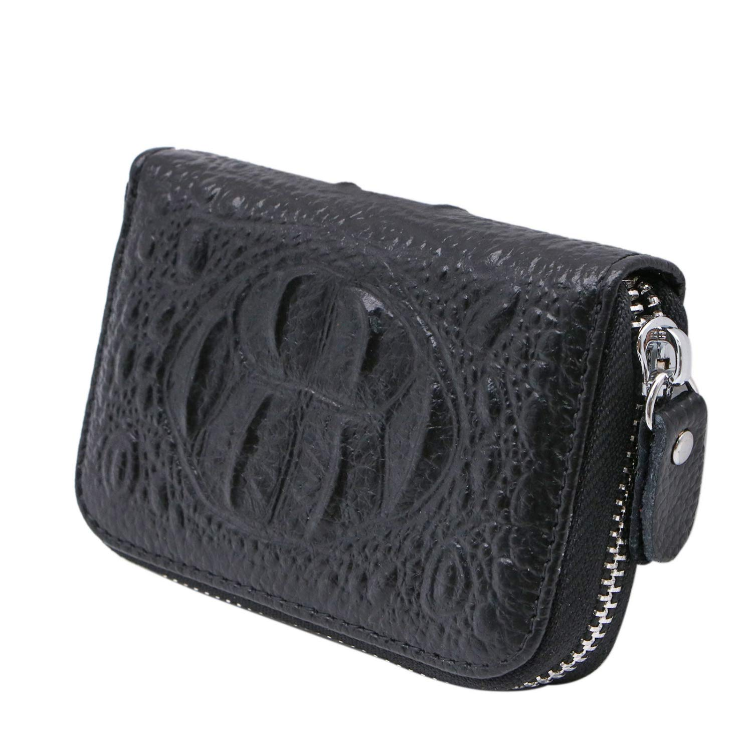 a4f433babb7a Amazon.com: JETEHO Womens Genuine Leather Wallet Credit Card Holder ...