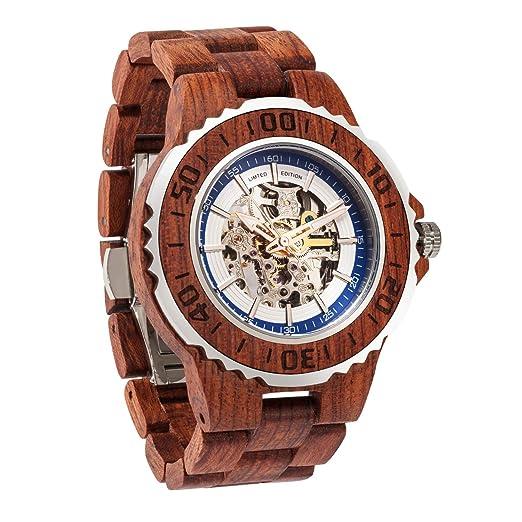 Reloj De Madera Prémium De Wilds, Movimiento Automático, Reloj Mecánico De Cuerda Automática Para