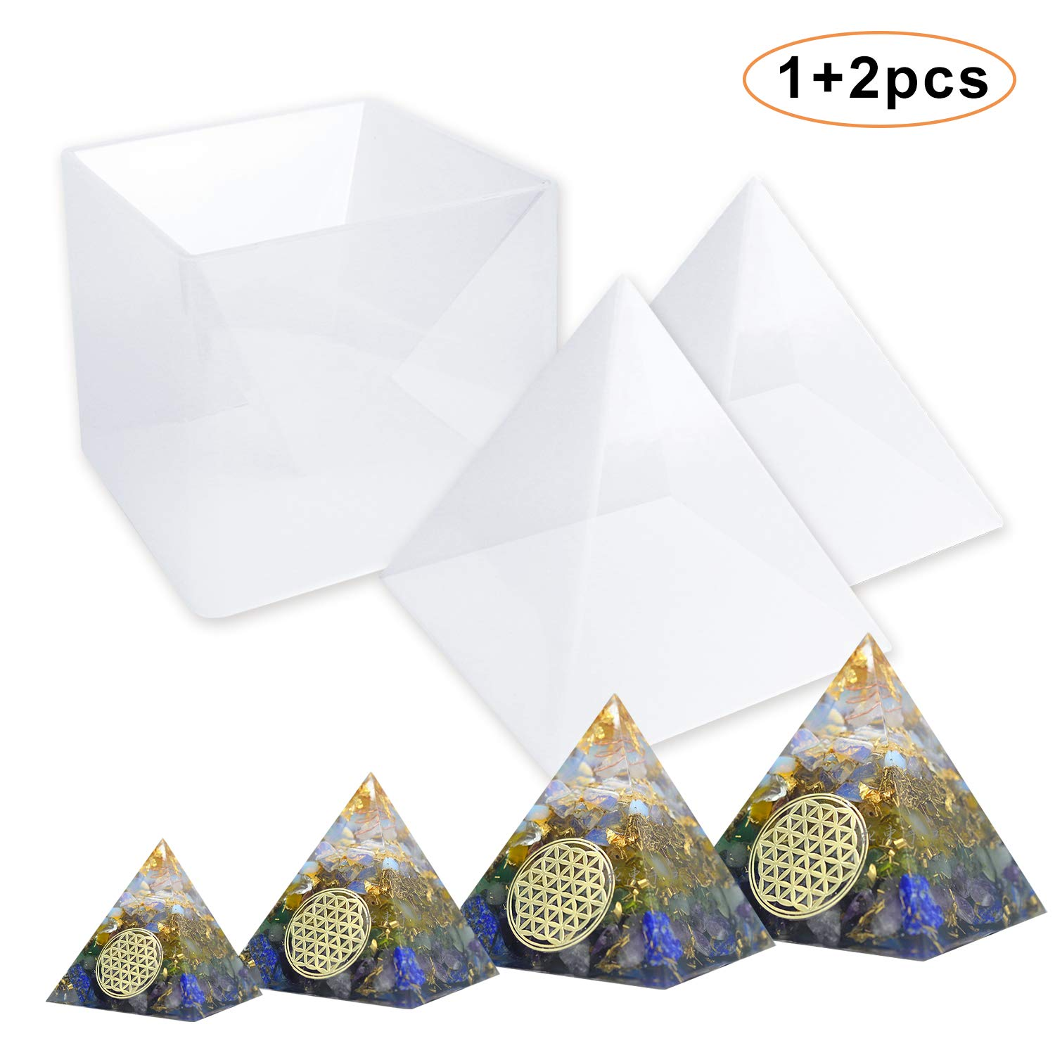 JOFAMY Large Pyramid Molds, Epoxy Resin Molds, Resin Silicone Molds for Orgonite Orgone Pyramid, Paperweight, Craft, Jewelry Making, Home Decoration(15cm/5.9inch Height) E4ulife