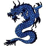 Parche termoadhesivo para la ropa, diseño de Dragón azul