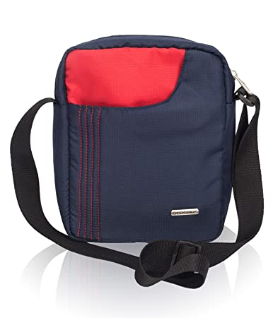 c74108b98c COSMUS Polyester 6 Ltr Navy Blue-Red Messenger Bag  Amazon.in  Bags ...
