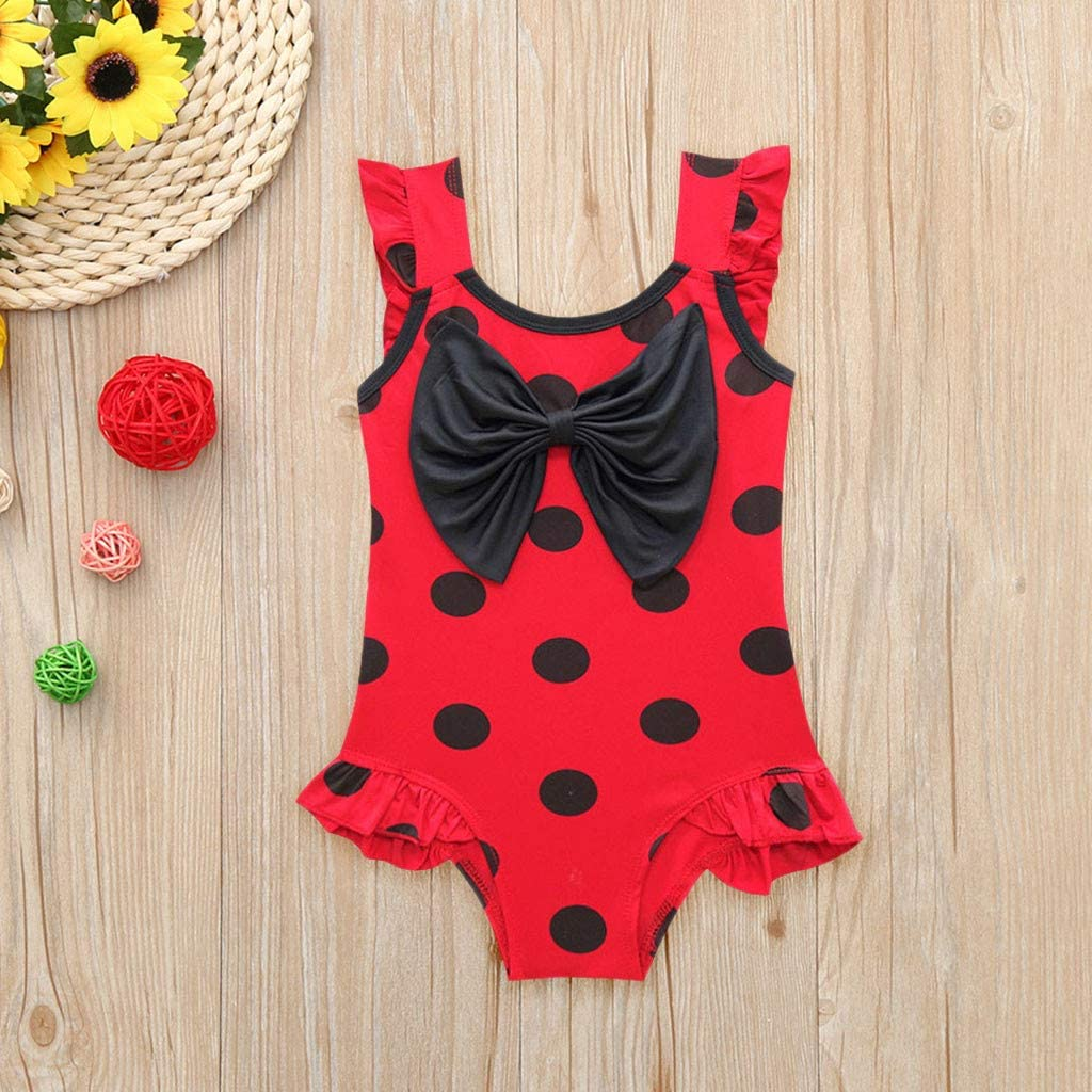 FDSD Baby Clothes Girls Swimsuits Toddler Girls Ruffle Bikini Swimwear One Piece Beach Bathing Suit