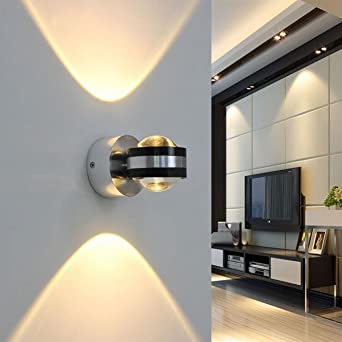 Coocnh 6W LED Wall Light Indoor Up And Down Wall Lamp Modern Design Warm  White For