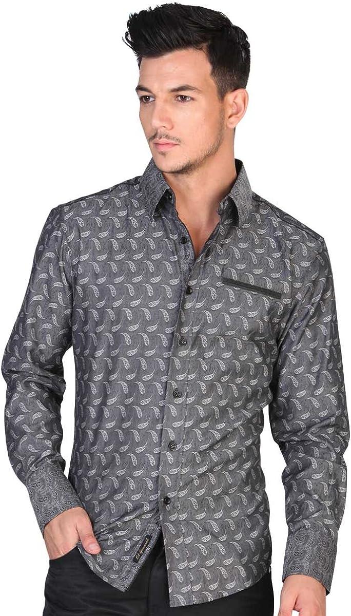 El General Camisa Vaquera L//Sleeve 50/% Cotton 50/% Polyester ID 35066 Charcoal CL
