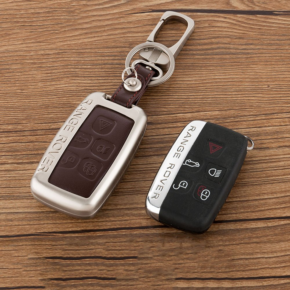 Amazon.com: Beamseed Metal With Leather Car Key Case For Land Rover ...