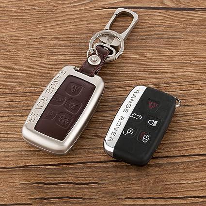 Beamseed Metal con piel llave del coche caso clave tapa ...