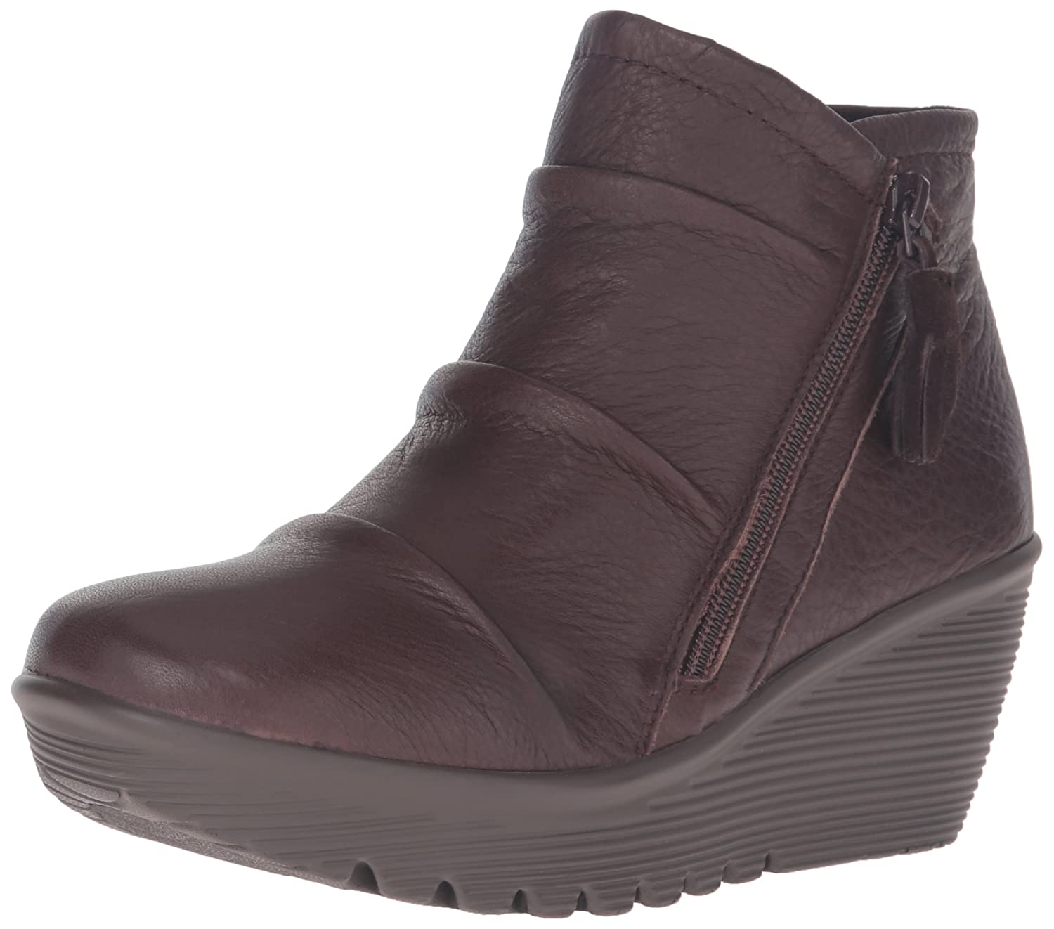 Skechers Women's Parallel-Double Trouble Ankle Bootie B01C5OE6W6 6.5 B(M) US|Chocolate
