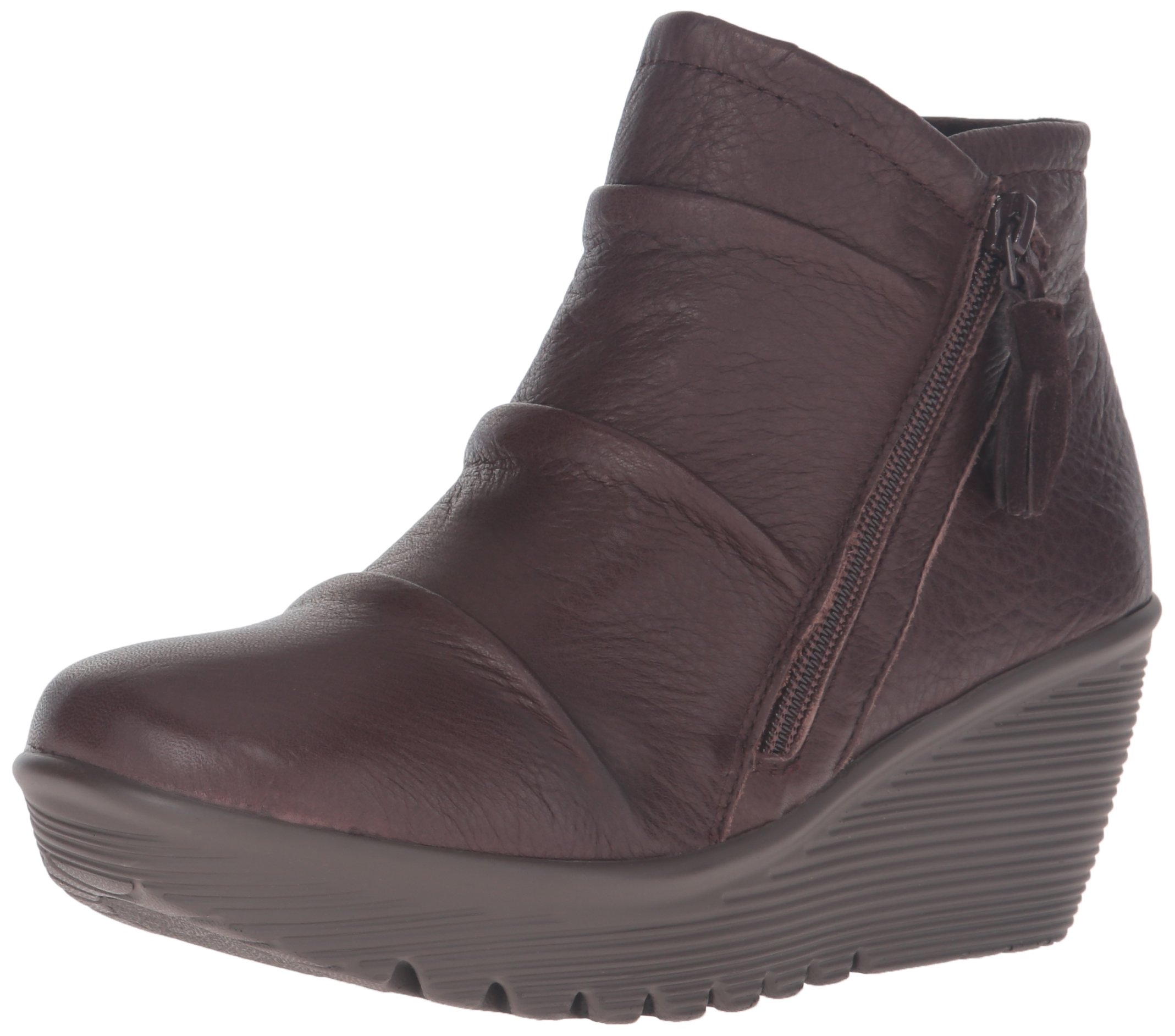Skechers Women's Parallel-Double Trouble Ankle Bootie,Chocolate,8 M US
