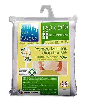 Nuit des Vosges Bio Protector de colchón 160x200 - Totalmente orgánico - Anti alergias: Amazon.es: Hogar