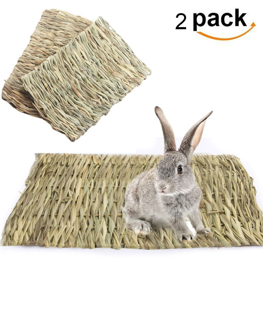 Grass Mat for Rabbits, Loveone(TM) Natural Safe Hideaway Durable Chew Toy Mat Bed for Bunny/ Hamster/ Chinchillas/ Guinea pigs/ Ferret/ Small Pets
