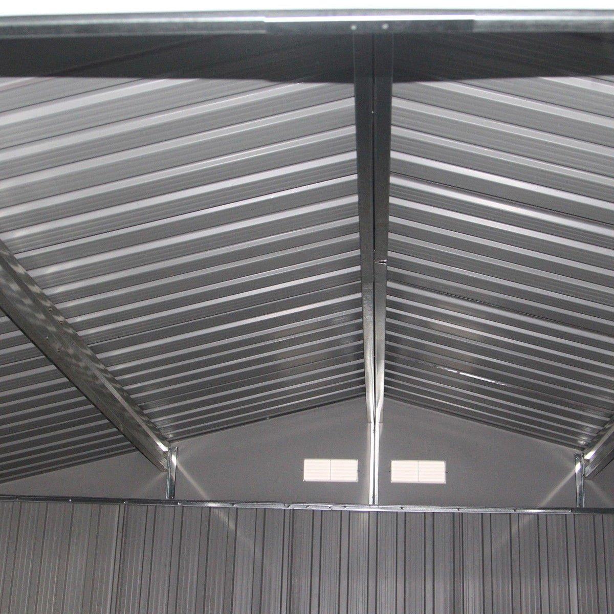 9' X 6' Outdoor Garden Storage Shed Tool House Sliding Door Steel Khaki New by tamsun (Image #7)