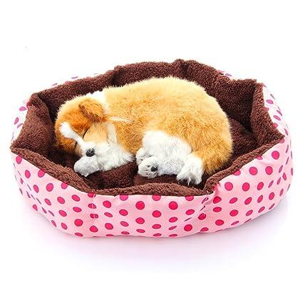 Algodón suave polar desmontable perro cachorro gato cama caliente casa felpa nido acogedor casa jaula Mat