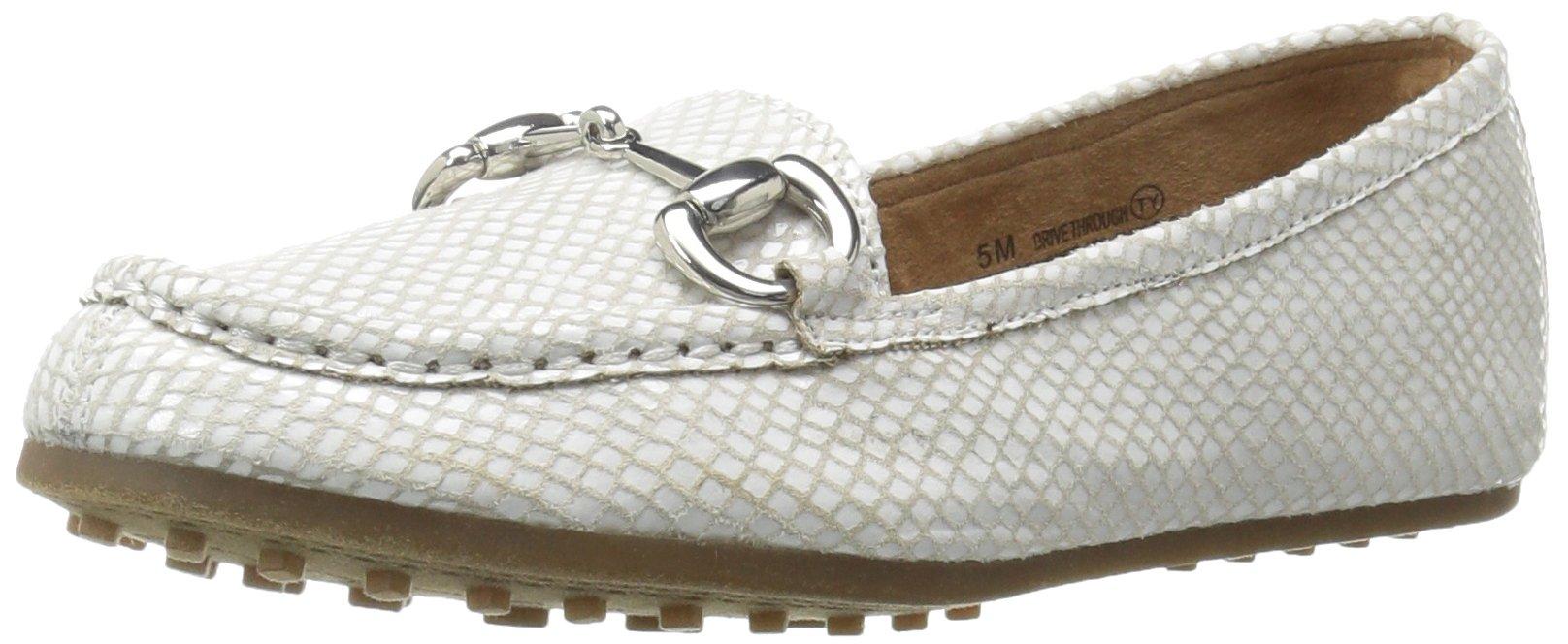 Aerosoles Women's Drive Through Slip-on Loafer, White Snake, 7 M US
