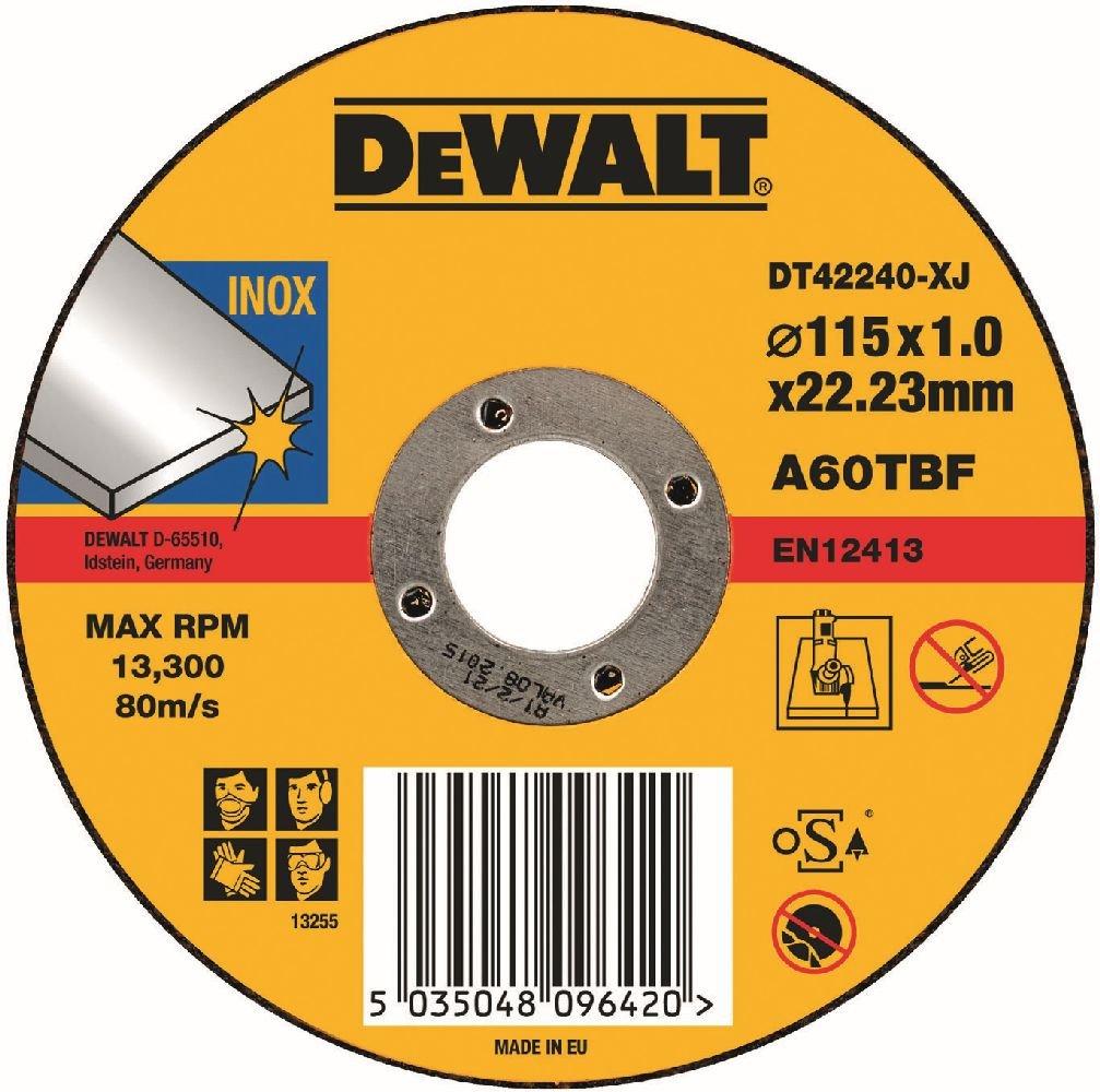 Dewalt DT42240Z-QZ Disque à Tronçonner, Gris, 115 x 1,2 mm