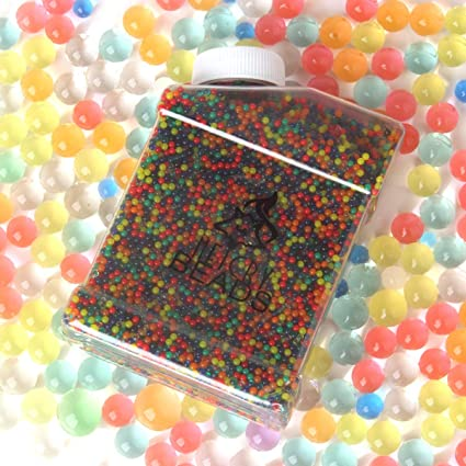 Water Beads Pack Rainbow Mix for Orbies Spa Refill Kid Sensory Toys and Vase