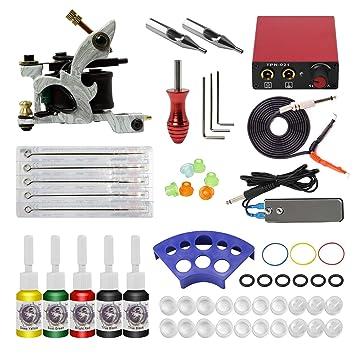 ITATOO Cheap Tattoo Complete Kit 1 Tattoo Machine Guns Mini ...