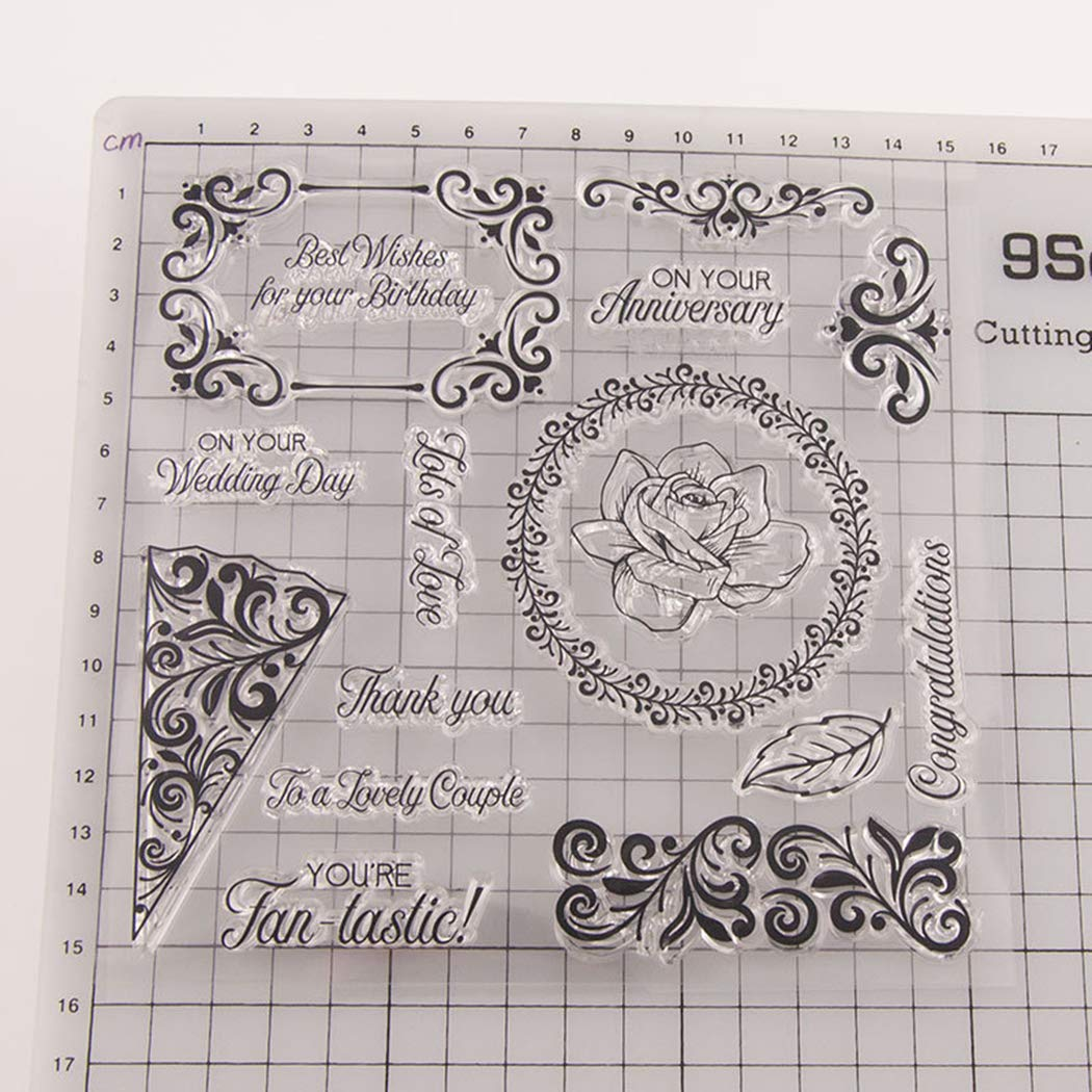BINGMAX Clear Stamps Sheets Silicone Seal for Card Making Decoration DIY Photo Albums