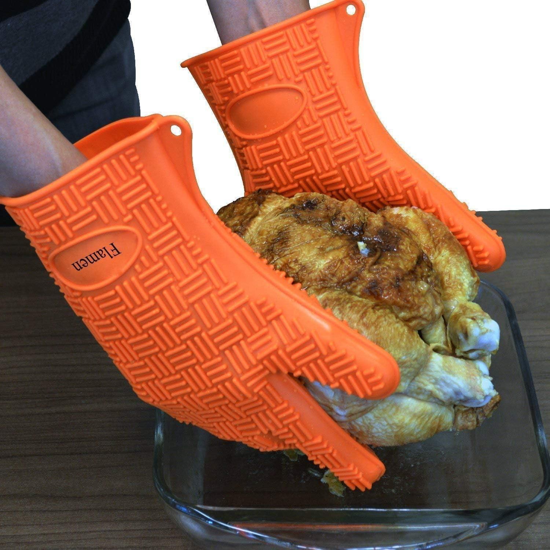 guantes para el horno de silicona marca flamen