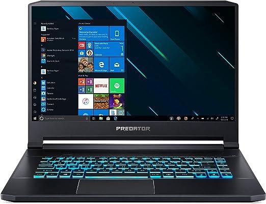 Notebook Predator Triton 500 PT515-51-75L8 GPU NVIDIA GeForce RTX 2080-8 GB GDDR6 CPU Intel Core i7-8750H - Hexa Core – 8ª Geração 15'6 IPS FHD 144Hz 512 GB SSD PCI PRETO.