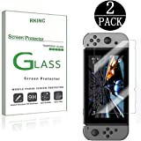Nitendo Switch 2017 Screen Protector, [2 Pack] RKINC Tempered Glass Screen Protector for Nitendo Switch 2017 with [9H Hardness] [Crystal Clear] [Scratch Resist]