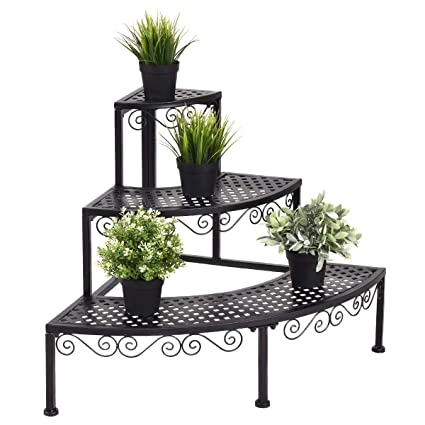 4f03d89ed2c4 Amazon.com : Giantex Corner Plant Stand Flower Pot Rack 3 Tier Step Style  Plant Display Holder Shoe Stand, 24 Inch Tall : Garden & Outdoor