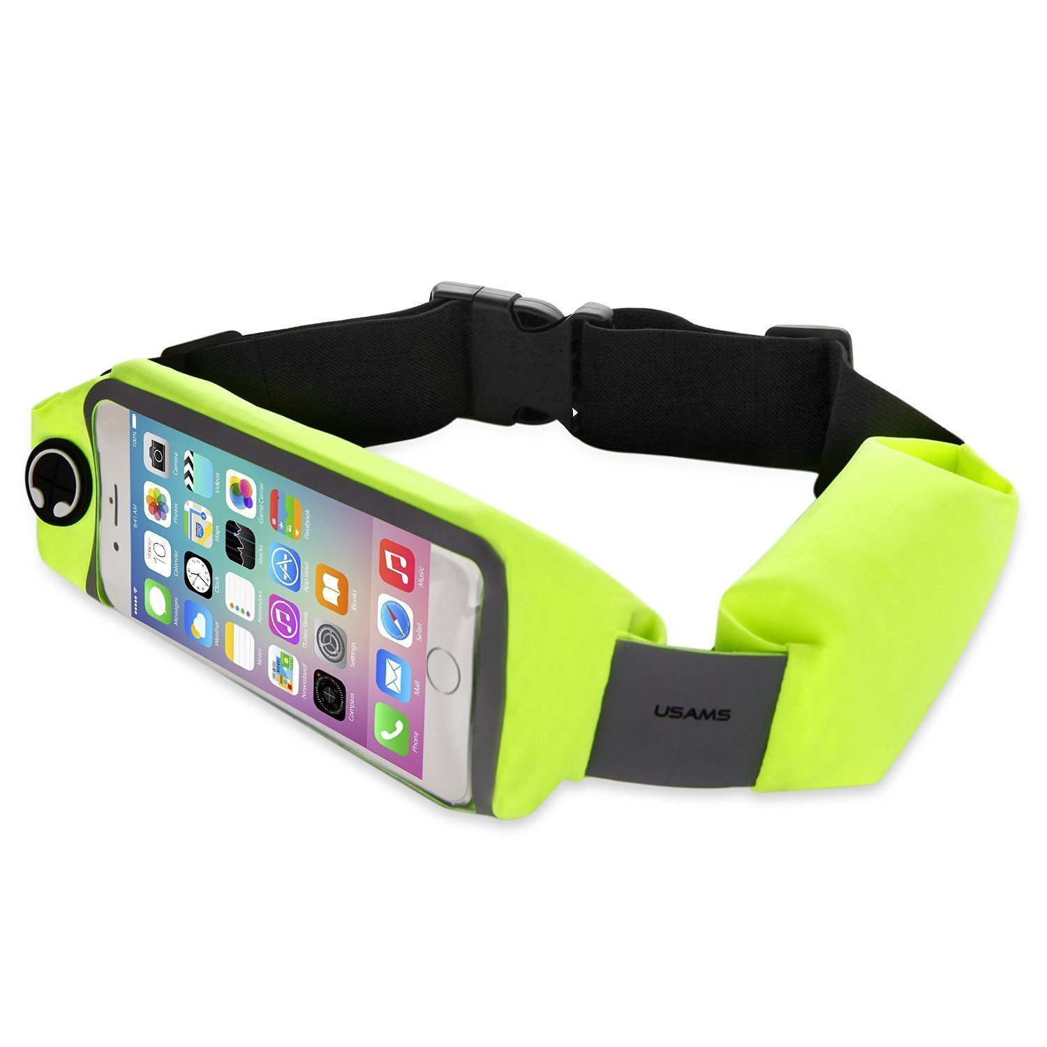 COJOY Running Belt Runner Waist Pack, i Large Expandable Waterproof Waist Bag Extra Pocket Fitness Belt with Reflective Stripes for Night Ride Fun Run 5.5'' Screen for Cell Phone 100%