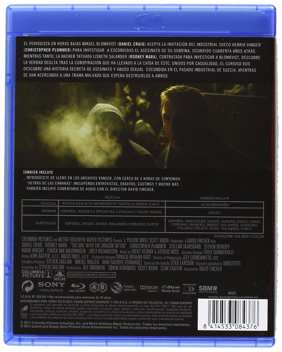 Amazon.com: Millennium: Los Hombres Que No Amaban A Las Mujeres (Blu-Ray) (Import Movie) (European Format - Zone B2) (2012: Movies & TV