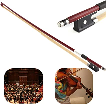 Carbon Fiber Handmade Violin Bogen Full Size 4//4 Black Violin String Bogen