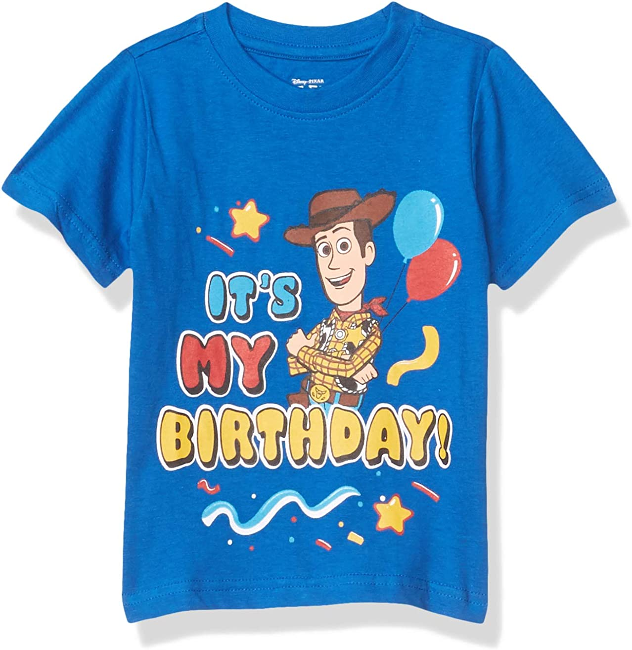 Disney Toy Story Boy's It's My Birthday Party Outfit Tee Shirt, 100% Cotton