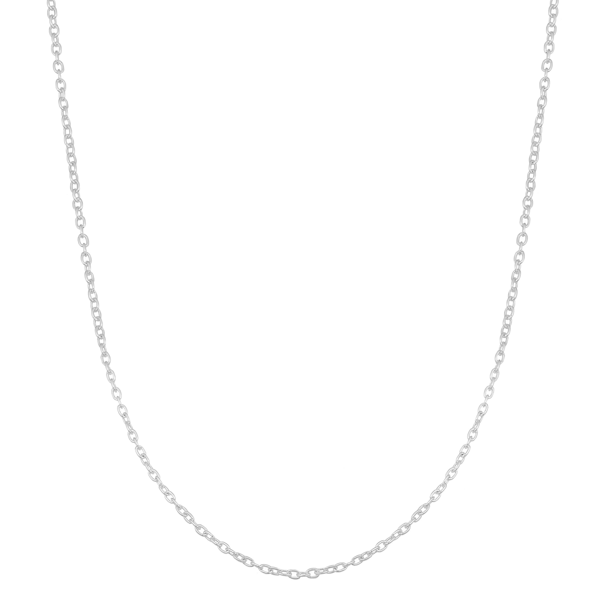 Kooljewelry Sterling Silver 1.2mm Round Cable Chain (24 inch)