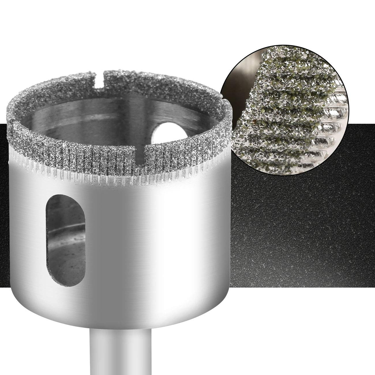 LIHAO 15 pcs Foret Diamant en Acier Porcelaine Carrelage 6-50mm Scie-Cloches Carrelage pour Verre Granite et Pierre etc Marbre C/éramique