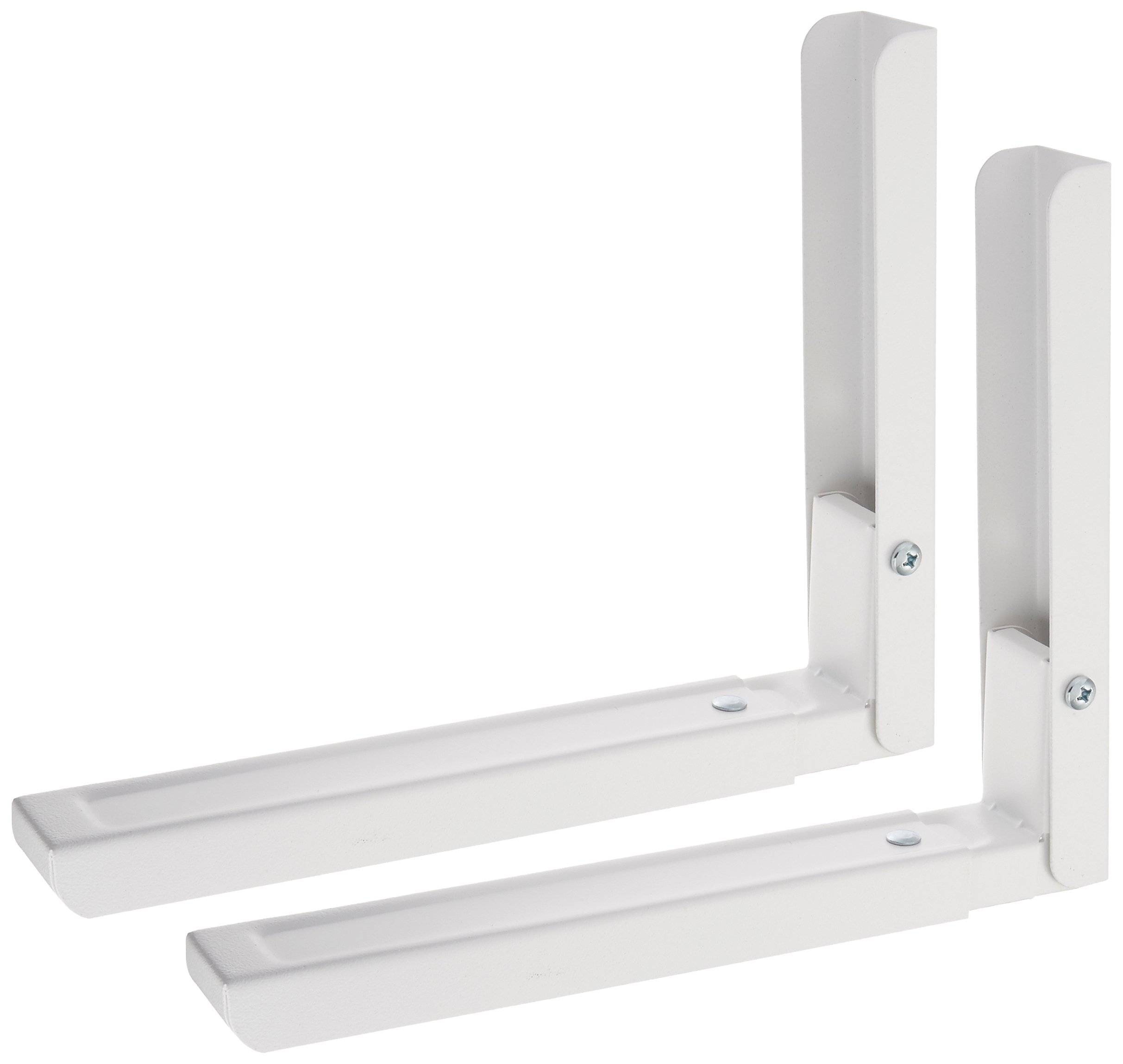 AVF EM60W-A Universal Wall-Mounted Microwave Brackets (Set of 2) - White