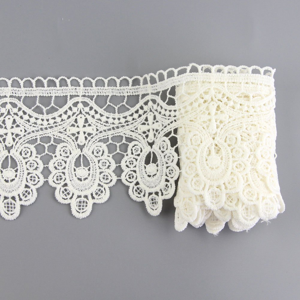 Amazon.com: Yontree Floral Venise Lace Applique Sewing Trim Bridal ...
