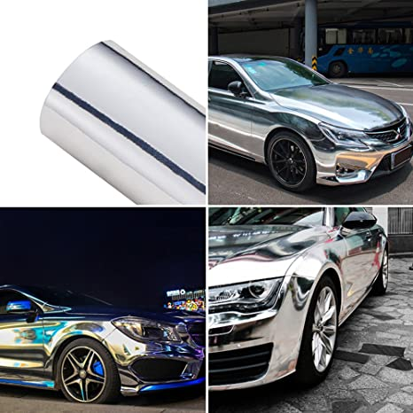 Car Stickers Good Qualit Silver Chrome Mirror Vinyl Car Wrapping Sticker Chrome Mirror Car Decoration Vinyl With Air Channels