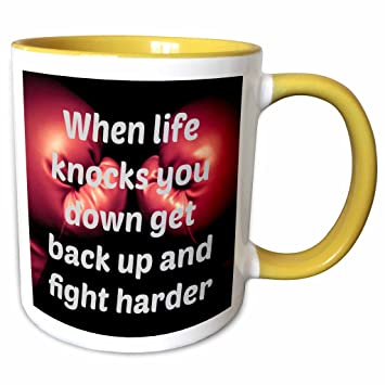 Amazoncom 3drose Jacoba Sport Quotes When Life Knocks You Down