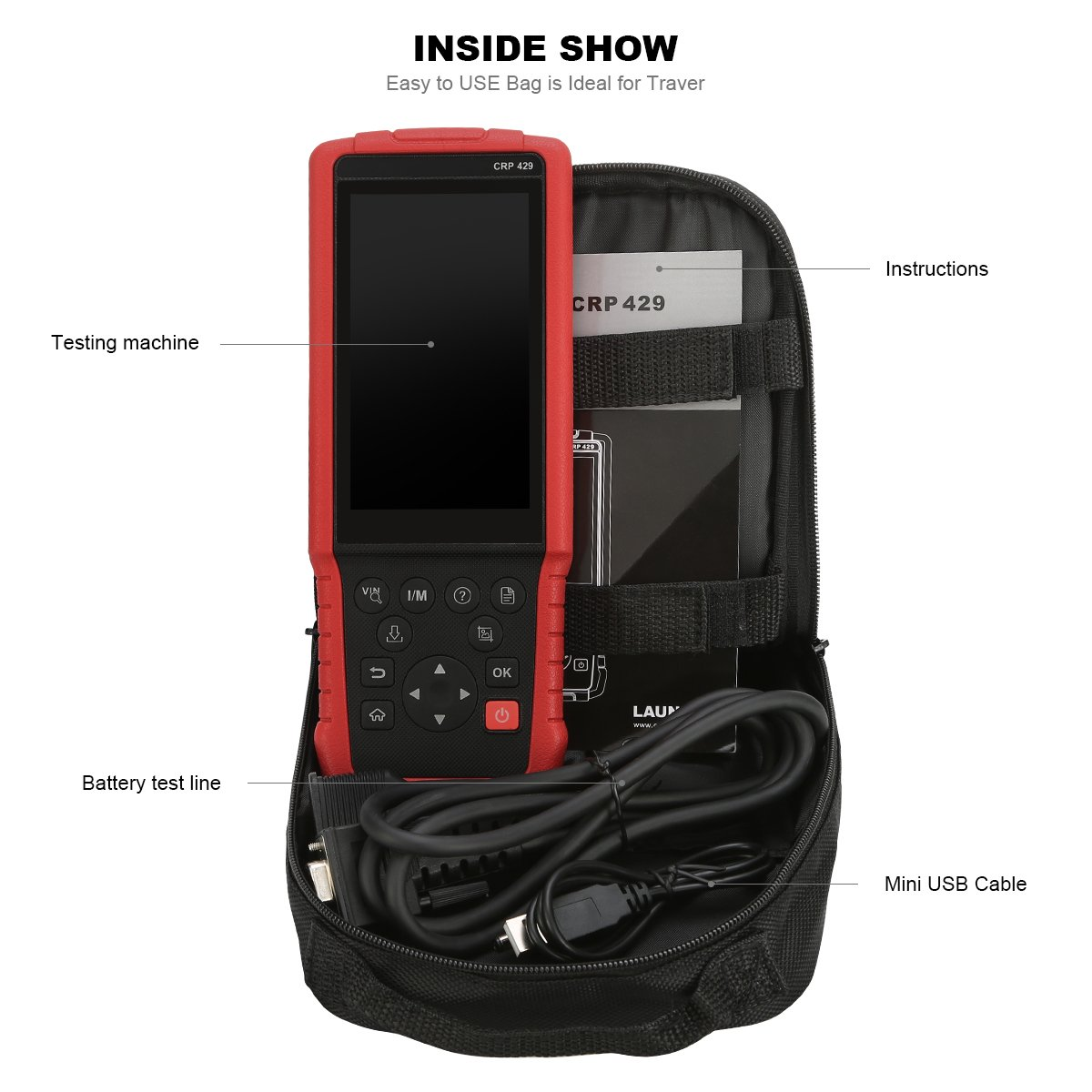 LAUNCH CRP429 OBD2 Scanner Diagnostic Scan Tool with All System Diagnoses and Service Functions of Injector Coding, IMMO Service and Oil Reset, EPB, BMS, SAS, DPF (Advanced Version of CRP Touch Pro) by LAUNCH (Image #3)