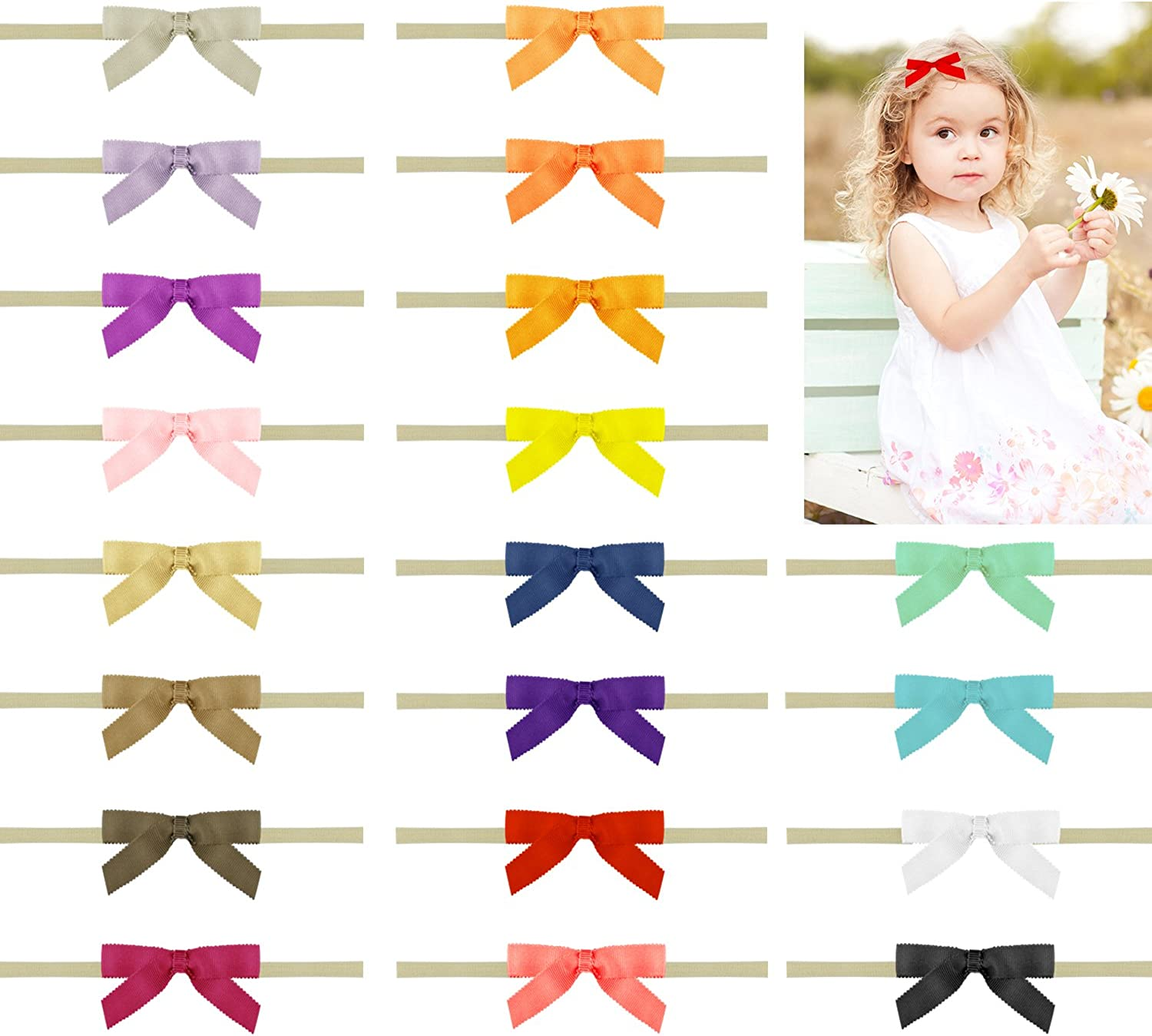 20pc baby headband infant bow girl hair accessories hair newborn gift US seller