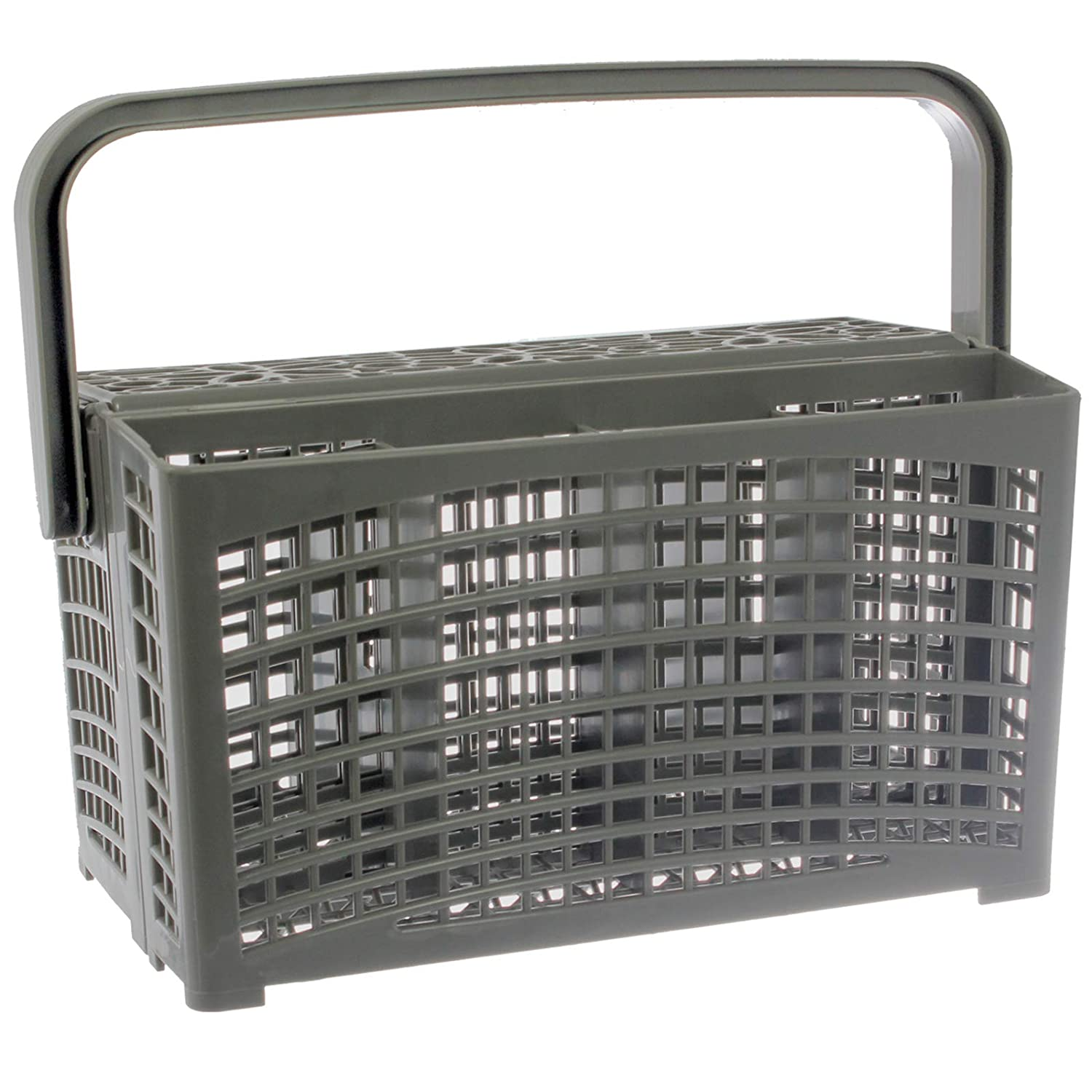 SPARES2GO Universal Two Piece Dishwasher Cutlery Basket (210 x 260mm)