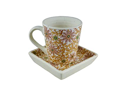 Buy Prop It Up Fine Quality Multicolor Ceramic Decal Finish Handcrafted Coffee Mug Tray Set For Tea Coffee And Milk Set Of 2 Pcs Lead Free Online At Low Prices In India Amazon In