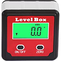 HHTEC Medidor de ángulo Inclinómetro digital LCD impermeable