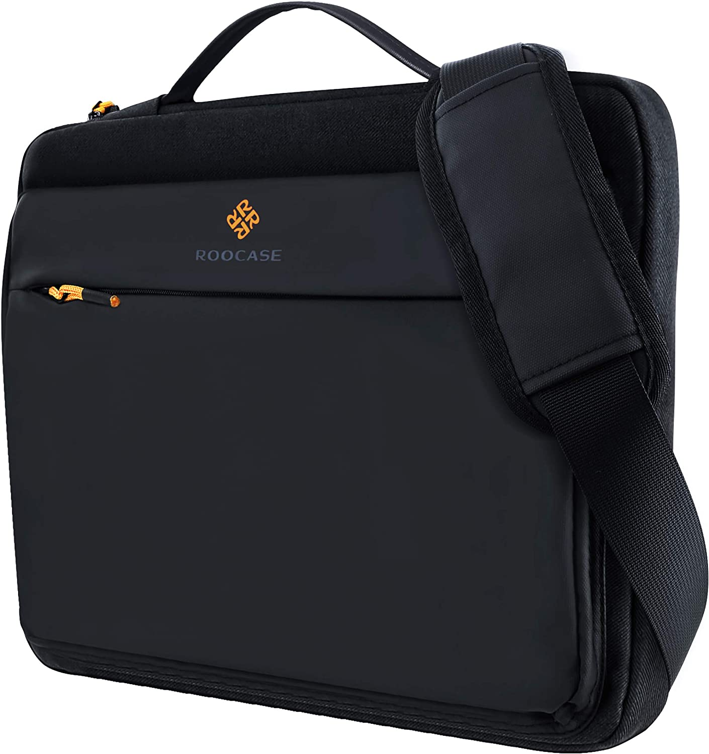 rooCASE Lancaster Laptop Shoulder Bag - MacBook Carrying Case Messenger Bag with Strap Fits 15.6 inch Laptop and Tablet - Business/Travel/School Bags