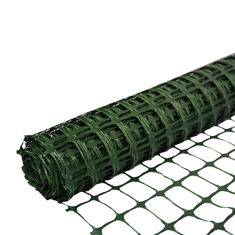 SORARA Barrera de Seguridad de plástico PE/Cerca Verde | 30 m / 3000 cm de Largo | 1.2 m / 120 cm de Alto/Duradero/Malla/Red/Rollo/Césped/Agrícola/Medio ...
