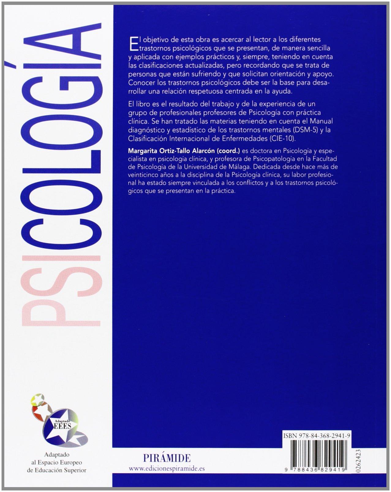 Psicopatología clínica: Adaptado al DSM-5 Psicología: Amazon.es: Margarita Ortiz-Tallo: Libros