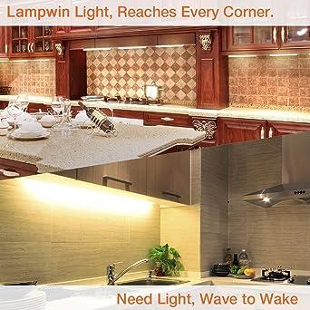 Lampwin - Barra de Luces LED, Luz del gabinete, 24 luces y 3W/pc, 100-240V, 750 Lumen 3000K, CRI>80 - Blanco Cálido: Amazon.es: Iluminación
