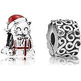 Pandora Geschenk-Set Weihnachts-Kätzchen und Ornamente 08020