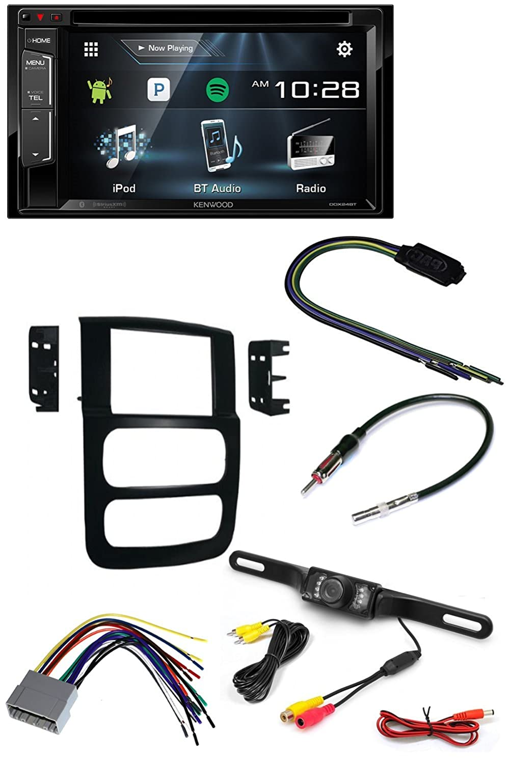 KENWOOD CAR CD STEREO RECEIVER DASH INSTALL MOUNTING KIT WIRE HARNESS AND  RADIO ANTENNA ADAPTER FOR