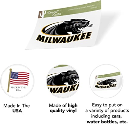 University of Wisconsin Milwaukee UWM Panthers NCAA Sticker Vinyl Decal Laptop Water Bottle Car Scrapbook Sheet Type 3-1